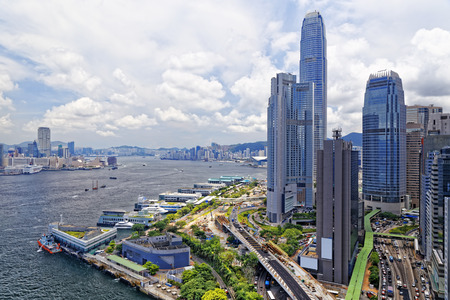 Hong Kong City at day Standard-Bild
