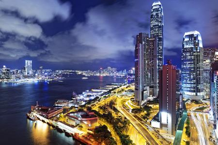 city night: Hong Kong City at Night