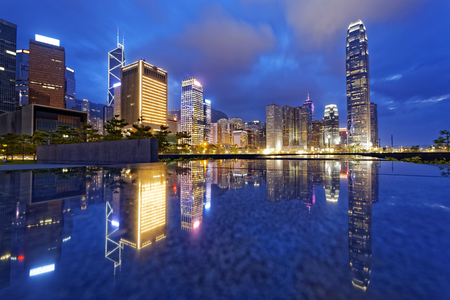hong kong night: Hong Kong night view of skyline Editorial