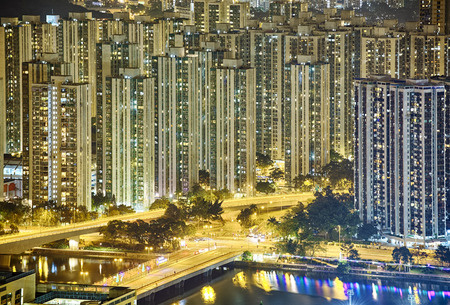 hk: Hong Kong Sha Tin Night