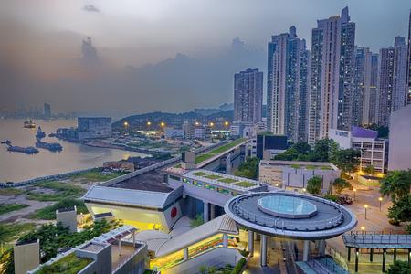 realty residence: Hong Hong Public Estate building Stock Photo