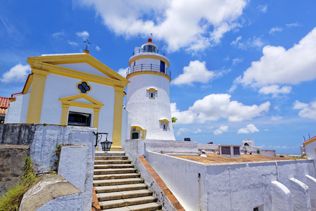 world heritage site: Guia Lighthouse, Fortress and Chapel in Macau. China.