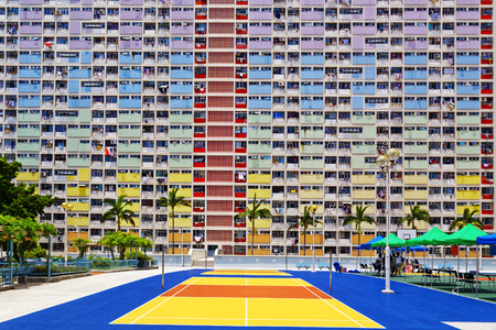 FFEntliche Gebäude, Wahrzeichen von Hong Kong Standard-Bild - 62512412