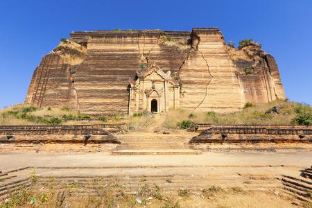 Ruined Pagoda in Mingun Paya  Mantara Gyi Paya ,Myanmar.
