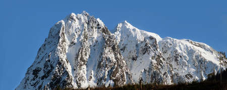 ridgeline: Mount Index in Mount Baker-Snoqualmie National Forest, WA, USA