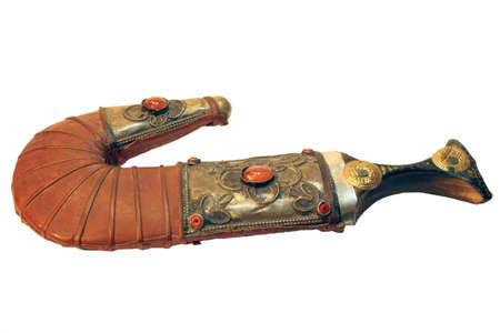 iraq money: Traditional Arab dagger or khanjar  Stock Photo