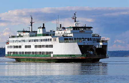 Washington State ferry in the Puget Sound Stock Photo