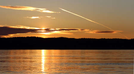 puget: Sunset over Whidbey Island in the Puget Sound