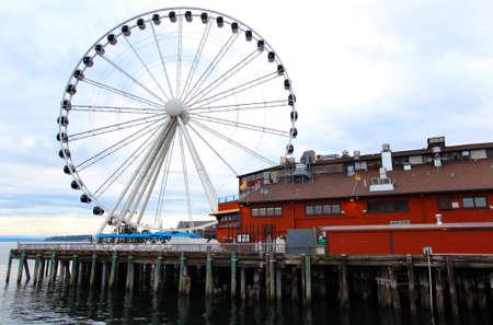 Seattle Great Wheel on waterfront