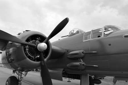 aircraft bomber: Side view of a B25J Mitchell bomber