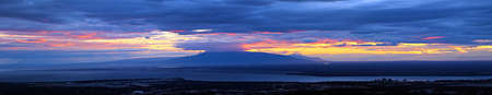 anchorage: panoramic view of sunset over Anchorage, Alaska