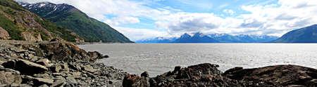 inlet bay: Landscape view of Turnagain Arm near Anchorage Alaska