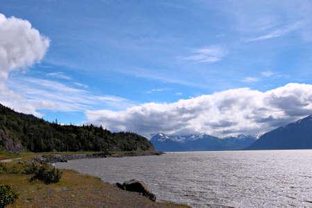 Landscape view of Turnagain Arm near Anchorage Alaska