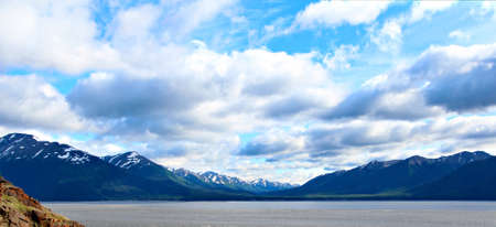 Landscape view of Turnagain Arm near Anchorage Alaska