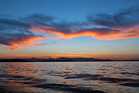elliot: Sunset on Alki Beach, Seattle Stock Photo
