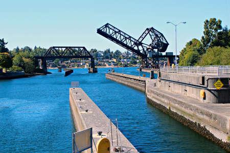 corps: Hiram M. Chiitenden Locks and Rail Drawbridge