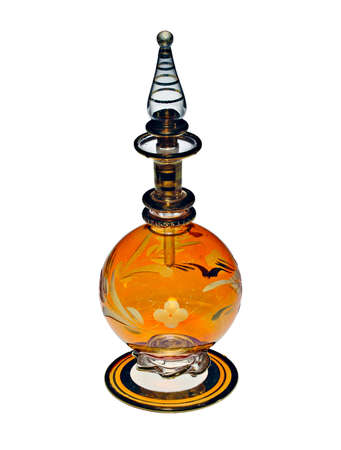 A classic vintage perfume bottle photo