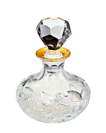 fragrance: A classic vintage perfume bottle