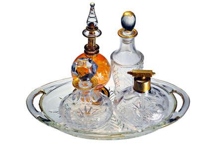 A collection of classic vintage perfume bottles Banco de Imagens - 15477233