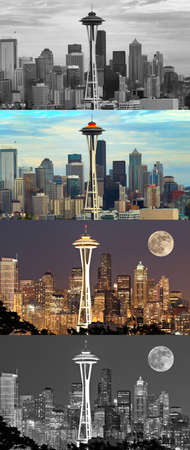 Different perspective of the Seattle Skline Stock Photo - 15477309