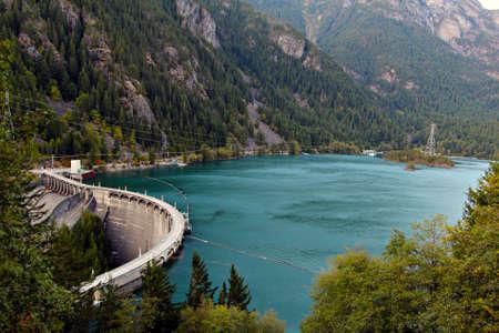 Diablo Dam wall, Washington State Stock Photo - 15548134