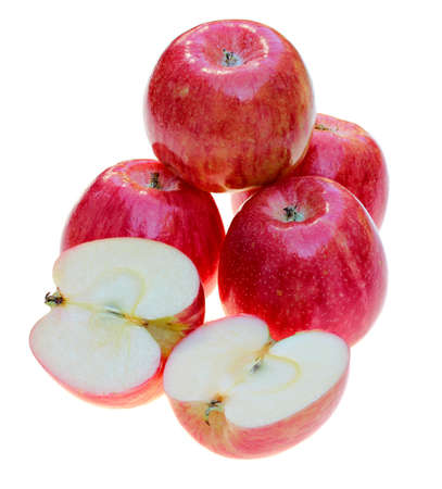 Delicious Honeycrisp apples isolated on white