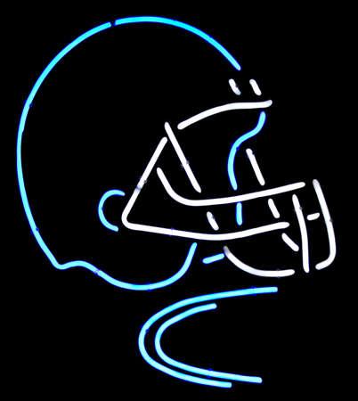 nfl helmet: A neon American football helmet