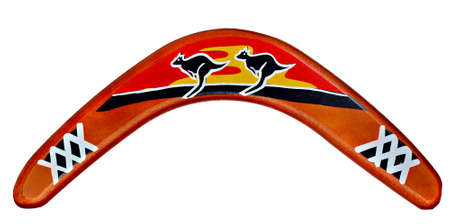 aborigine: aborigine hunting tool or boomerang from Australia