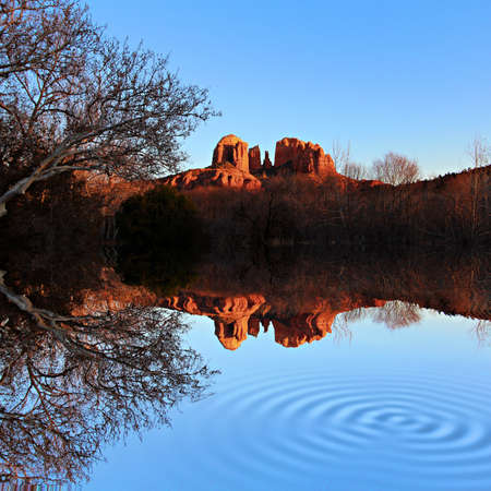 A view of some of the red rocks in Sedona, Arizona, USA Stock Photo