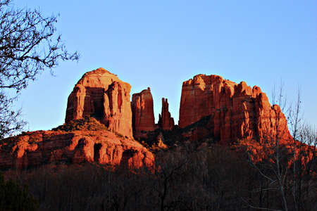 rock formation: A view of some of the red rocks in Sedona, Arizona, USA Stock Photo