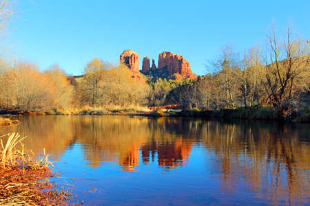 A view of some of the red rocks in Sedona, Arizona, USA photo