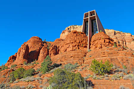 The Chapel of the Holy Cross set among red rocks in Sedona, Arizona  photo