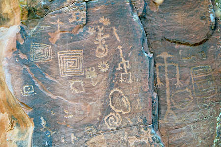 indian creek: Ancient pictographs by the southern sinagua found at the V-bar-V site