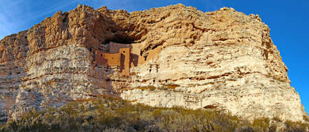 Montezuma Castle National Monument and ancient cliff dwellings photo