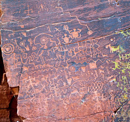 Ancient pictographs by the southern sinagua found at the V-bar-V site