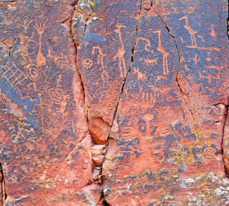 Ancient pictographs by the southern sinagua found at the V-bar-V site photo