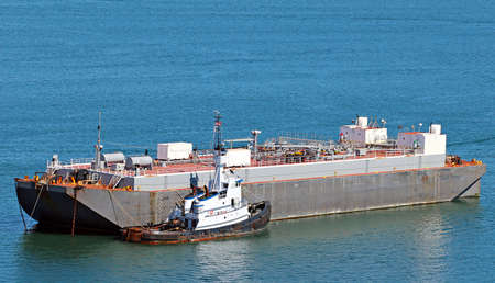 padilla: Oil petroleum barge in Padilla Bay, Anacortes, Washington State
