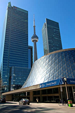 TORONTO - APRIL 17  The Roy Thomson Hall in downtown Toronto on April 17 2013  One of Canada Stock Photo - 19711742