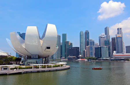 SINGAPORE - APRIL 23  Opened on 17 February 2011, it is the world Editorial
