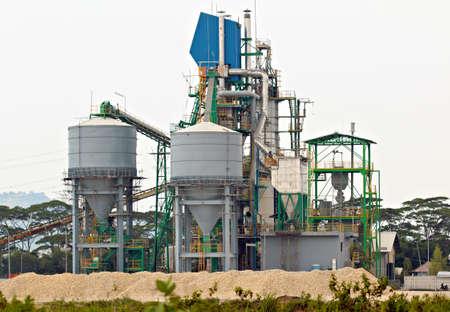 conveyor rail: Lime Stone Processing Plant Stock Photo