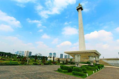 国立モニュメント モナスの歴史ムルデカ スクエア、中央ジャカルタ、インドネシア