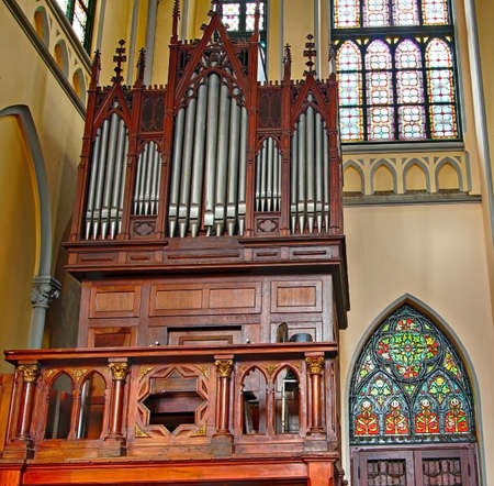 JAKARTA - MAY 8  Roman Catholic Cathedral on May 8, 2013 in Jakarta, Indonesia  Church organ in the cathedral, seat of the Roman Catholic Archbishop of Jakarta