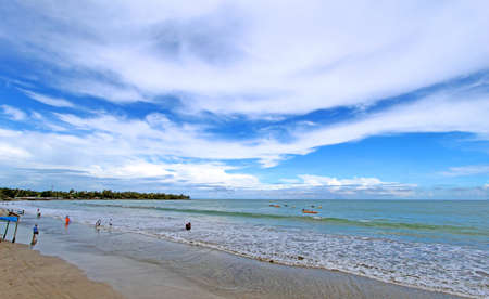 Beautiful scenic landscape of the west coast of the island of Java in Indonesia near Anyer