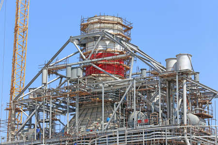 Industrial construction of a power plant