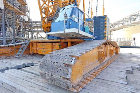 crawlers: large construction mobile crane on crawlers