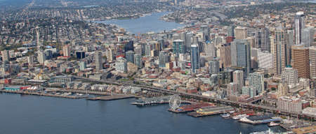 Aerial view of downtown Seattle Stock Photo - 24040131