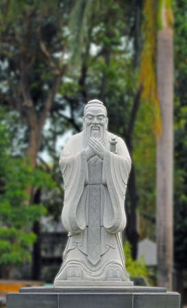 Statue of Confucius in the Chinese Garden, Rizal Park, Manilla, Philippines