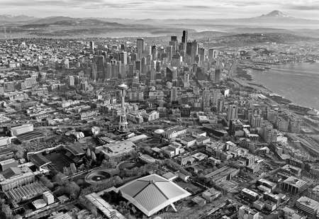 Aerial view of downtown Seattle Stock Photo - 24200002