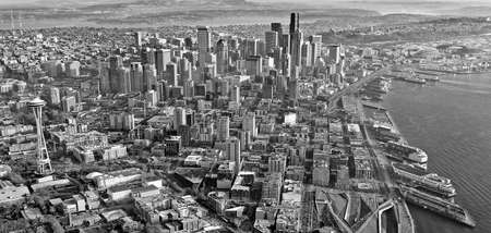 Aerial view of downtown Seattle Stock Photo - 24200004