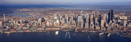 Aerial view of downtown Seattle Stock Photo - 24200011
